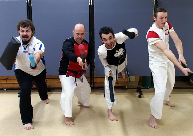 kumite; sparring miękką bronią; szermierka samurajska; kobudo